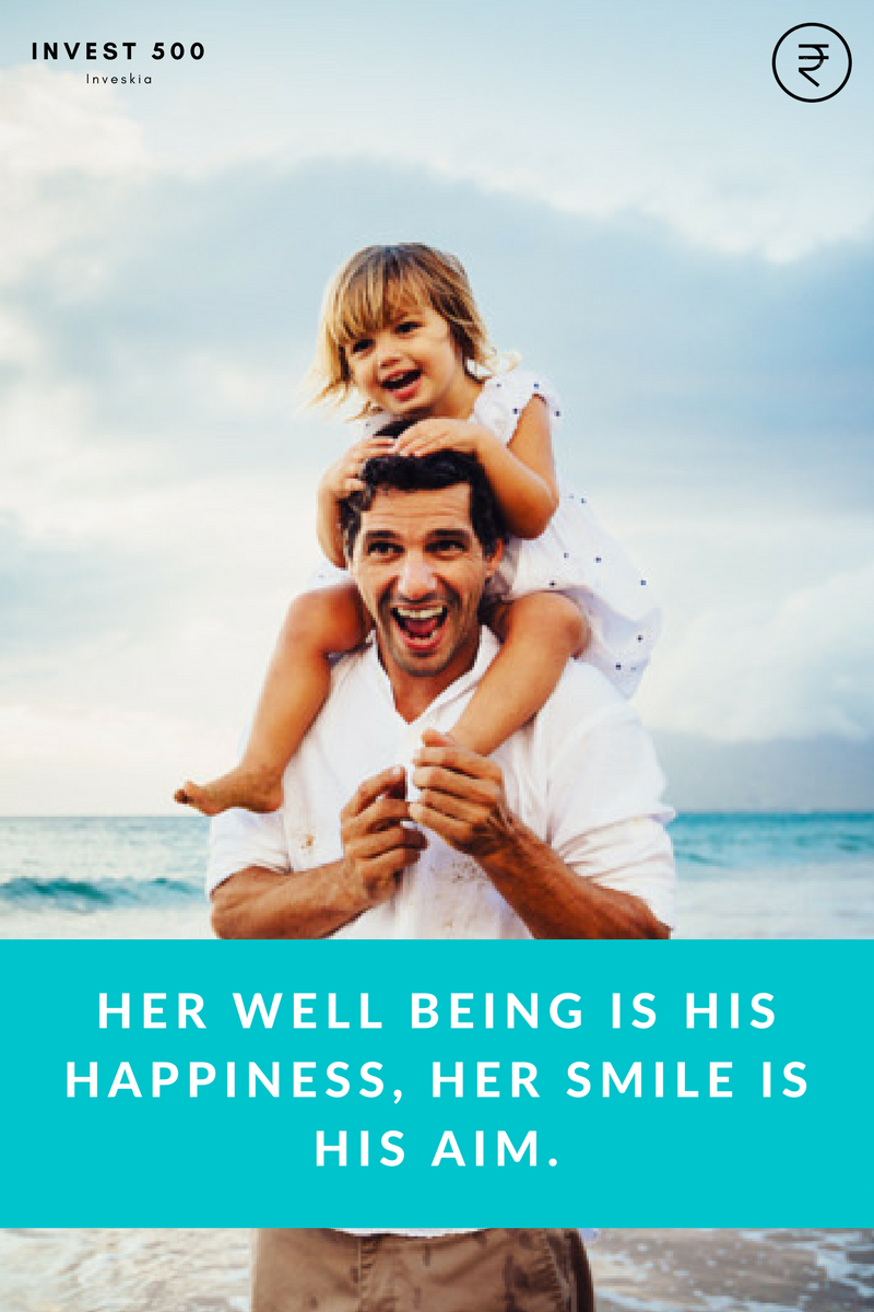 her well being is his happiness, her smile is his aim.